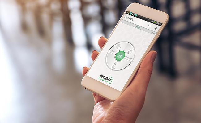 Värmestyrning med appen Nobø Energy Control